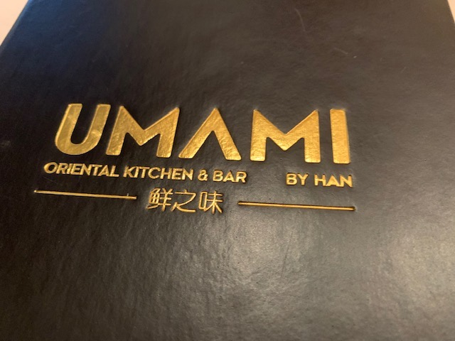 menukaart umami