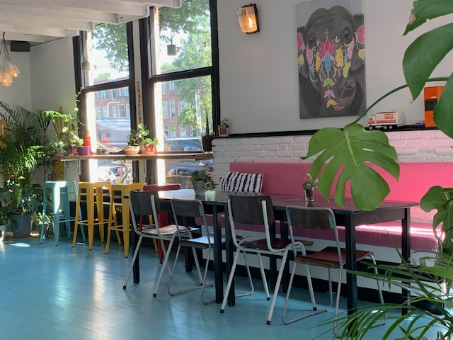 kleurrijk interieur vegane glorie